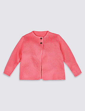 Crochet Stitch Panel Detail Cardigan