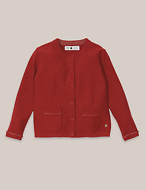 Girls Cashmere Blend Cardigan (3 Months - 5 Years)