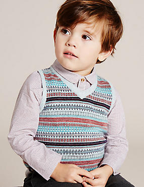 Boys Fairisle Knitted Tank Jumper (3 Months - 5 Years)