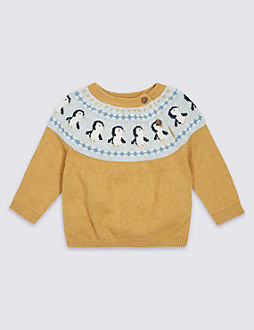 Cotton Rich Penguin Fairisle Jumper