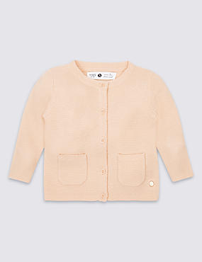 Girls Cardigan with Cashmere (3 Months - 5 Years)