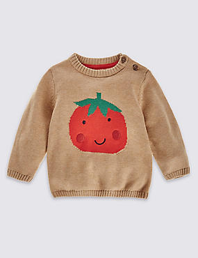 Pure Cotton Tomato Jumper