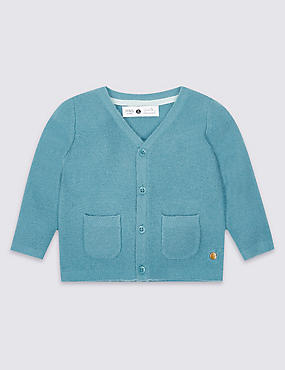 Boys Cardigan with Cashmere (3 Months - 5 Years)