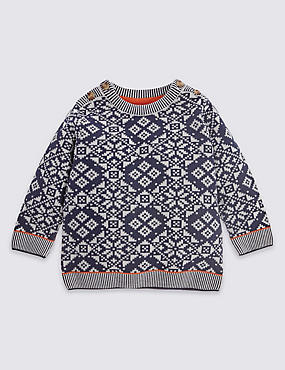Pure Cotton Fairisle Jumper