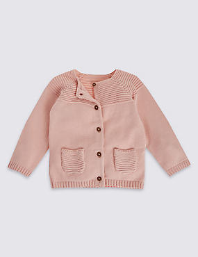 Pure Cotton Long Sleeve Cardigans