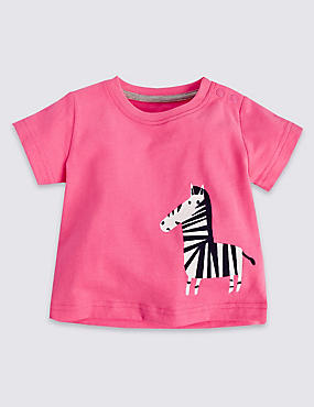 Pure Cotton Zebra Appliqué Top
