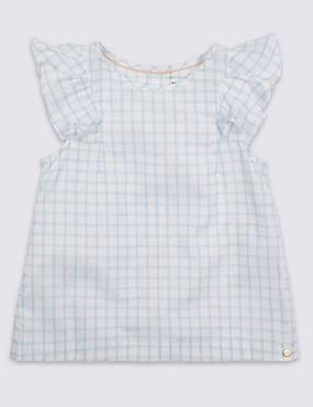 Girls Woven Check Top (3 Months - 5 Years)