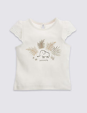 Pure Cotton Elephant T-Shirt