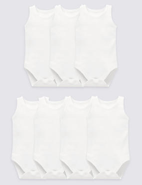 7 Pack Sleeveless Bodysuits