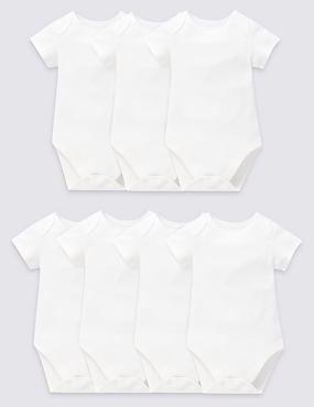 7 Pack Short Sleeve Bodysuits