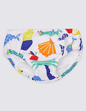 Fish Print Swim Nappy, MULTI/BRIGHTS, catlanding