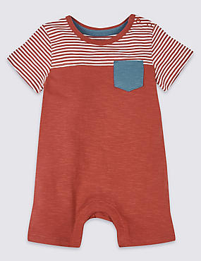 Pure Cotton Sporty Romper