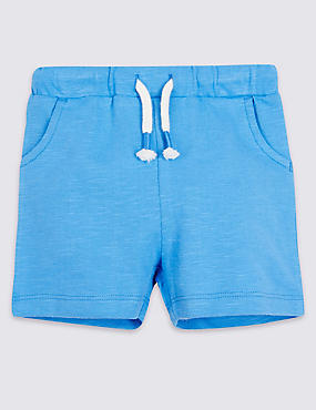 Pure Cotton Jersey Shorts