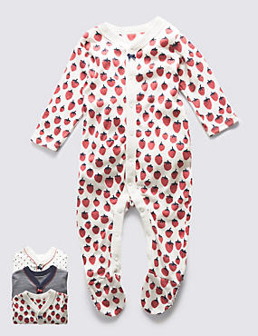 3 Pack Girls' Nautical Sleepsuits