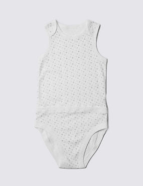 Sleeveless Bodysuit with Popper Tummy (3-8 Years)