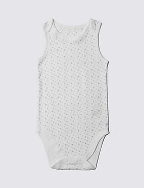 Pure Cotton Sleeveless Bodysuit (3-8 Years)