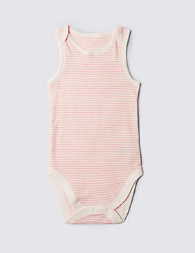Pure Cotton Bodysuit (3-8 Years), PINK MIX, catlanding