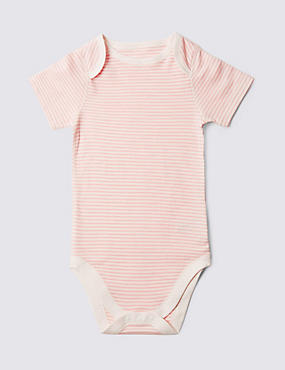 Pink Stripe Short Sleeve Bodysuit (3-8 Years)