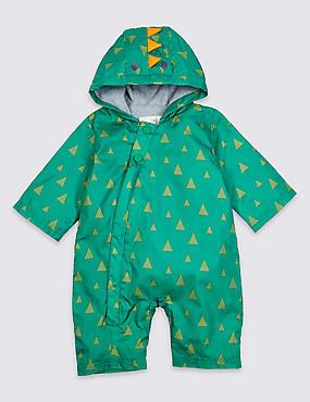 Dinosaur Puddle Suit, GREEN, catlanding