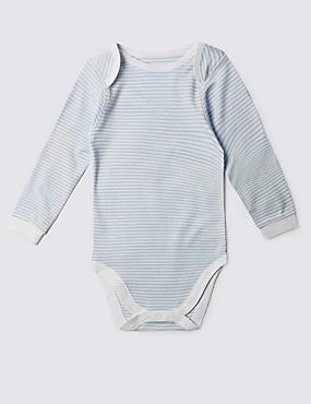 Pure Cotton Bodysuit (3-8 Years), BLUE MIX, catlanding