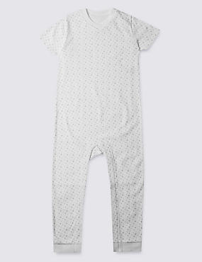 Grey Unisex Star Sleeping Suit (3-8 Years)