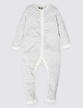 Pure Cotton Sleepsuit (3-16 Years), GREY MIX, catlanding
