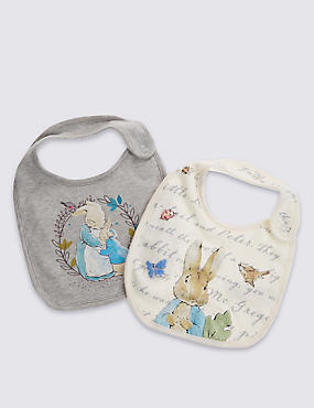 2 Pack Pure Cotton Peter Rabbit™ Bibs