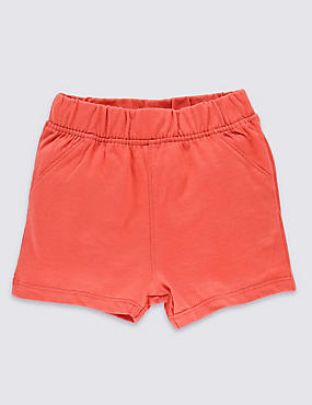 Pure Cotton Elasticated Waist Shorts