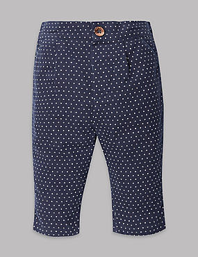 Pure Cotton Spotted Cord Trousers