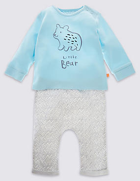 2 Piece Unisex Bear T- Shirt & Joggers
