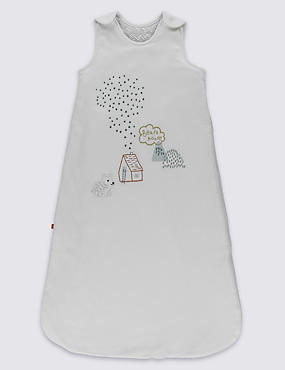 Bear Embroidered 2.2 Tog Sleeping Bag