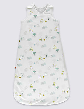 Unisex Contrast Print 2.2 Tog Sleeping Bag