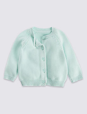 Pure Cotton Unisex Matinee Cardigan