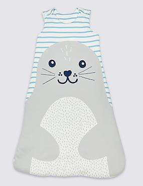 Pure Cotton 2.1 Tog Seal Sleeping Bag, MULTI, catlanding