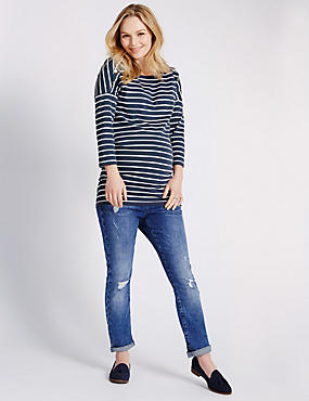 Maternity Feeding Striped Top with Modal