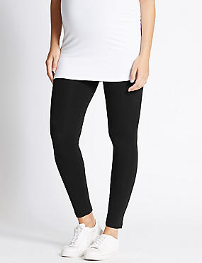 Maternity Cotton Leggings with Stretch