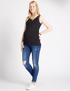 Maternity Distressed Slim Leg Jeans