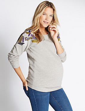 Maternity Embellished Sweatshirt