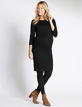 Maternity Ruched Jersey Dress with Modal