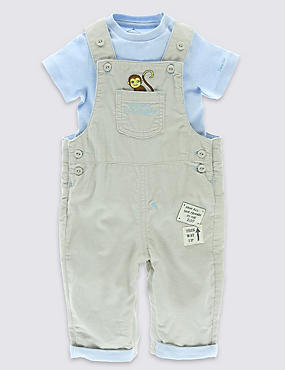 Dear Zoo 2 Piece Pure Cotton Pinny & Bodysuit Outfit
