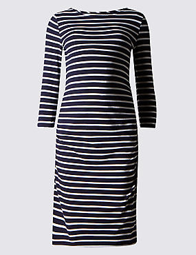 Maternity Striped Dress with Modal