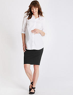 Textured Maternity Skirt