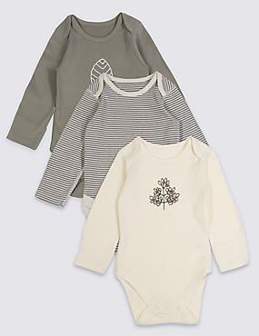 3 Pack Pure Cotton Baby Organic Bodysuits