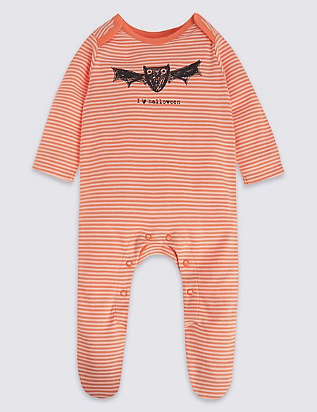 Pure Cotton Bat Sleepsuit