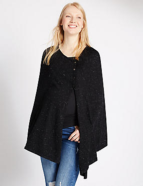 Maternity Twinkle Poncho Cape