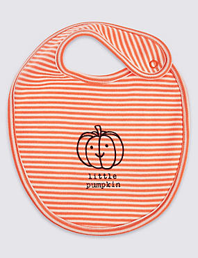 Pure Cotton Little Pumpkin Bib