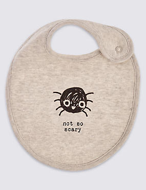 Pure Cotton Not So Scary Spider Bib