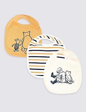 3 Pack Winnie the Pooh & Friends™ Bibs, HONEY MIX, catlanding
