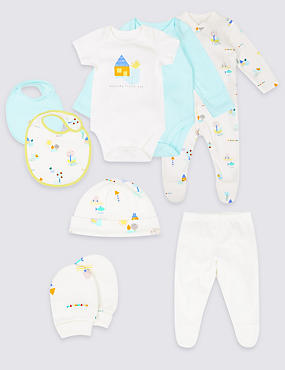 8 Piece Unisex Pure Cotton Outfit