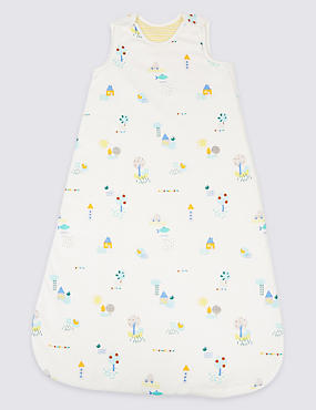 Pure Cotton All Over Print 2.1 Tog Sleeping Bag